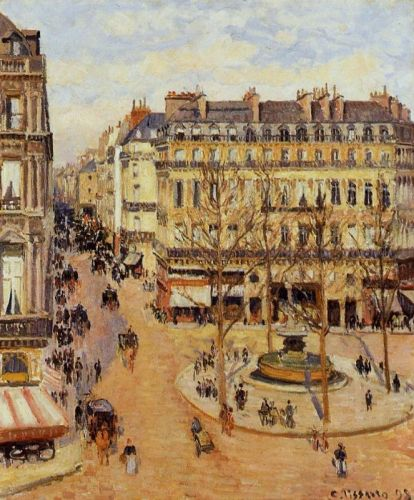 Rue Saint-Honore: Morning Sun Effect, 1898 by Camille Pissarro