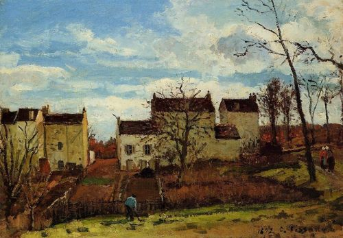 Spring at Pontoise, 1872 by Camille Pissarro