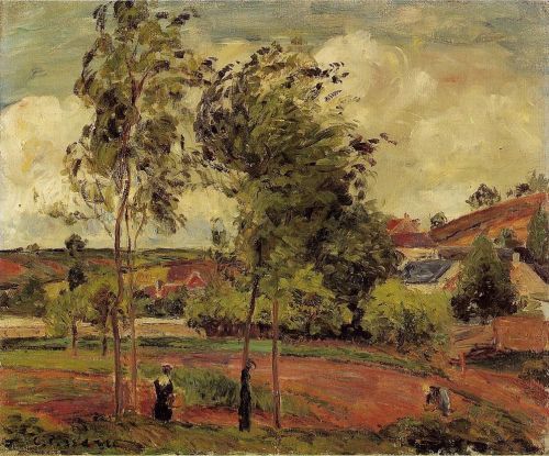 Strong Winds, Pontoise, 1877 by Camille Pissarro