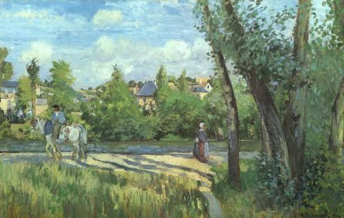 Sunlight on the Road, Pontoise, 1874 by Camille Pissarro