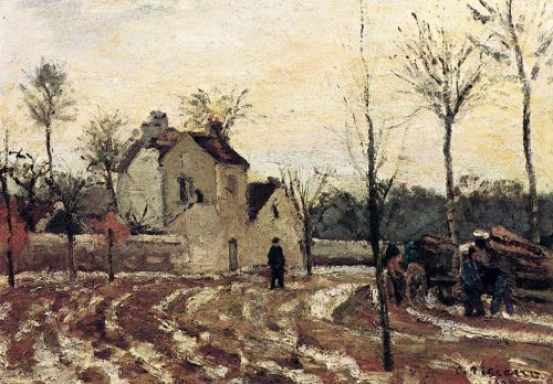 Thaw, Pontoise, 1872 by Camille Pissarro