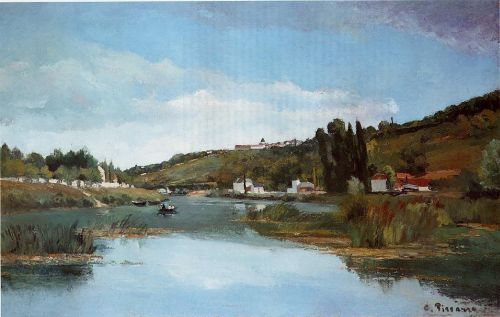 The Banks of the Marne at Chennevieres, 1864-1865 by Camille Pissarro