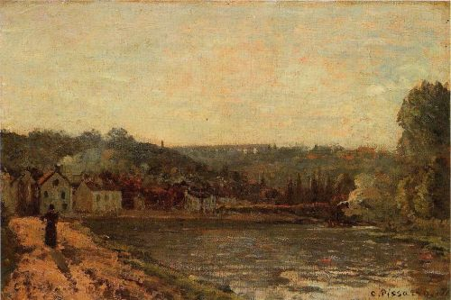 The Banks of the Seine at Bougival, 1871 by Camille Pissarro