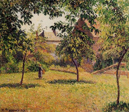 The Barn, Morning, Eragny, 1893 by Camille Pissarro