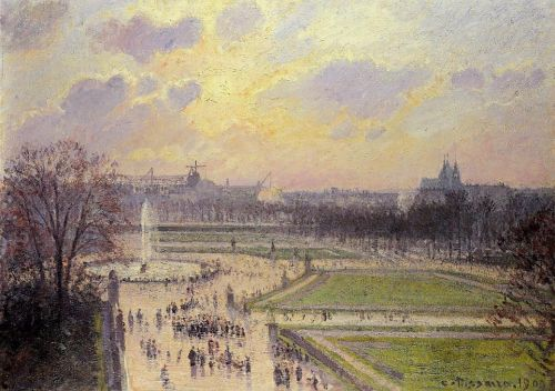 The Bassin des Tuileries, 1900 by Camille Pissarro