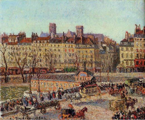 The Baths of Samaritaine, Afternoon, 1902 by Camille Pissarro
