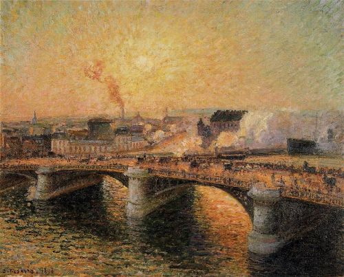 The Pont Boieldieu in Rouen: Sunset, 1896 by Camille Pissarro