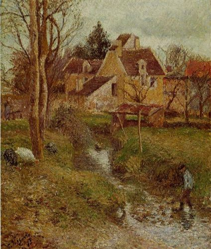 The Brook at Osny, 1883 by Camille Pissarro