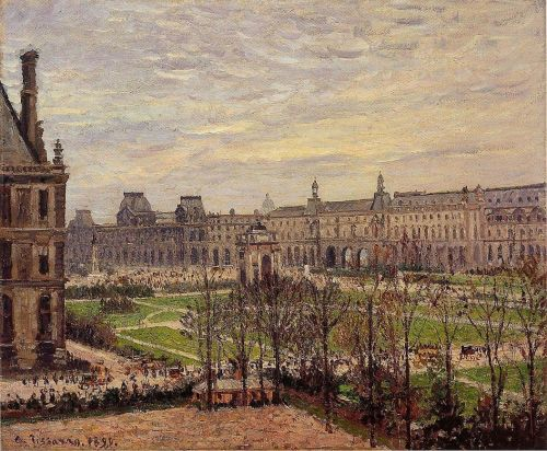 The Carrousel: Grey Weather, 1899 by Camille Pissarro