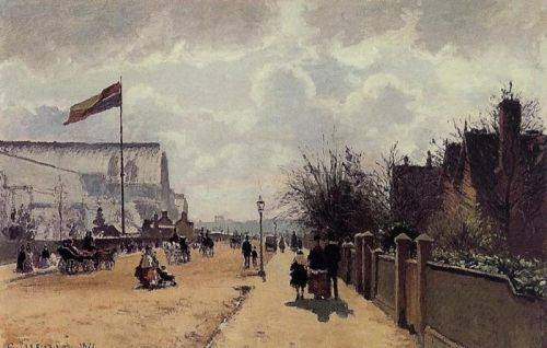 The Chrystal Palace, London, 1871 by Camille Pissarro