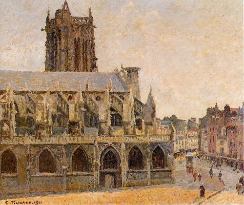 The Church of Saint-Jacques, Dieppe, 1901 by Camille Pissarro