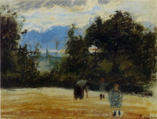 The Clearing, 1876 by Camille Pissarro