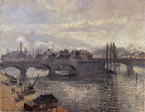 The Pont Corneille, Rouen: Morning Effect, 1896 by Camille Pissarro