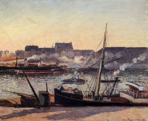 The Docks, Rouen: Afternoon, 1898 by Camille Pissarro