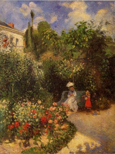 The Garden at Pontoise, 1877 by Camille Pissarro