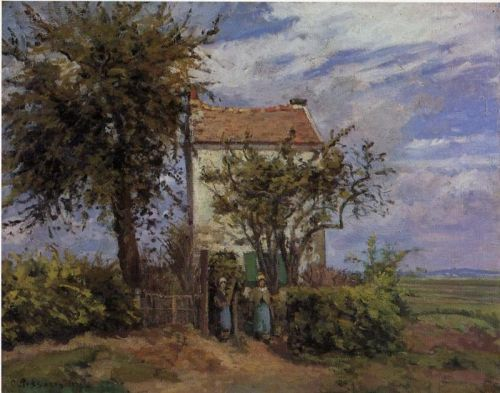 The House in the Fields, Rueil, 1872 by Camille Pissarro