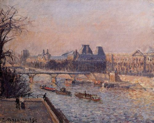 The Louvre, Afternoon, 1902 by Camille Pissarro