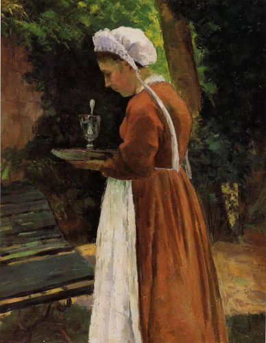 The Maidservant, 1867 by Camille Pissarro
