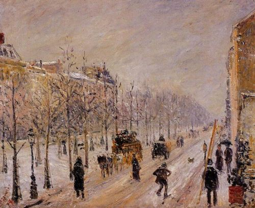 The Outer Boulevards, Snow Effect, 1879 by Camille Pissarro