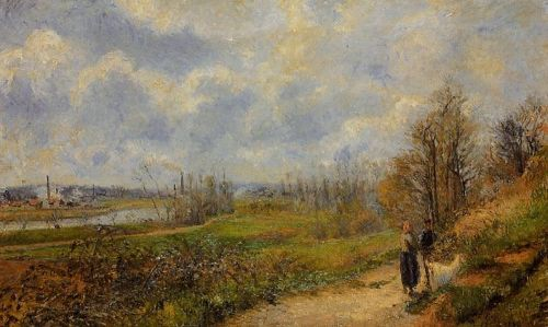 The Pathway at Le Chou, Pontoise, 1878 by Camille Pissarro