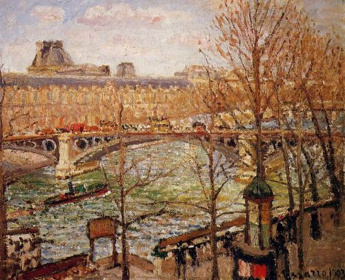 The Pont du Carrousel, Afternoon, 1903 by Camille Pissarro