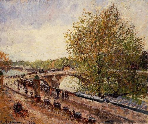 The Pont Royal: Grey Weather, Afternoon, 1902 by Camille Pissarro