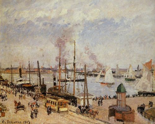 The Port of Le Havre: High Tide, 1903 by Camille Pissarro