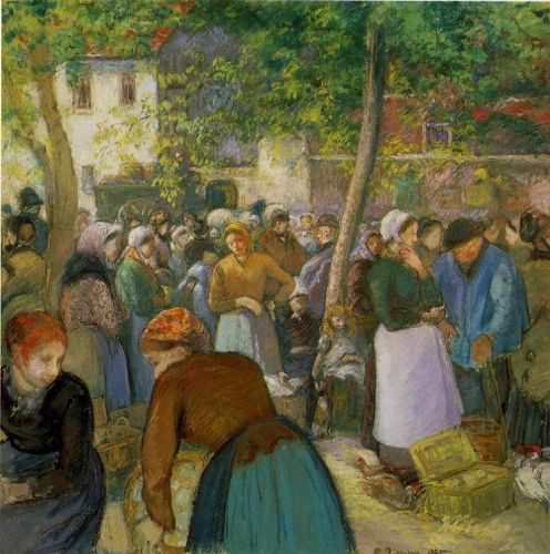 The Poultry Market, 1885 by Camille Pissarro