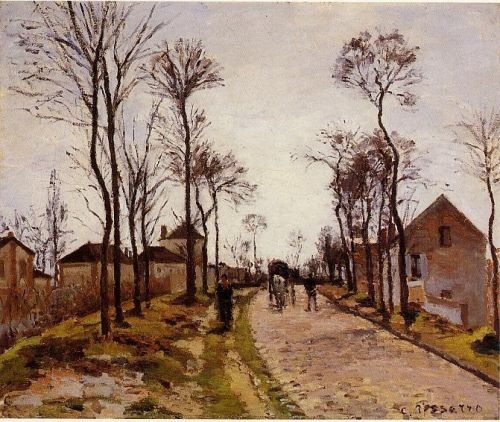 The Road to Caint-Cyr at Louveciennes, 1870 by Camille Pissarro