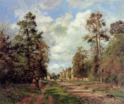 The Road to Louveciennes at the Outskirts of the Forest (The Louveciennes Road), 1871 by Camille Pissarro