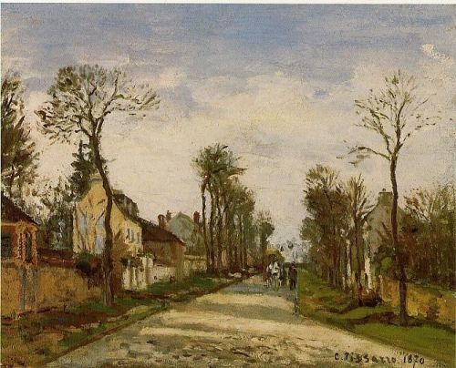 The Road to Versailles at Louveciennes, 1870 by Camille Pissarro