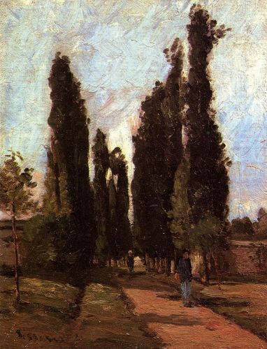 The Road, 1864 by Camille Pissarro