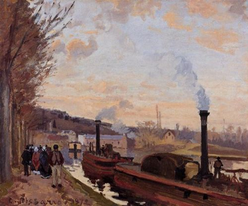 The Seine at Marly, 1872 by Camille Pissarro