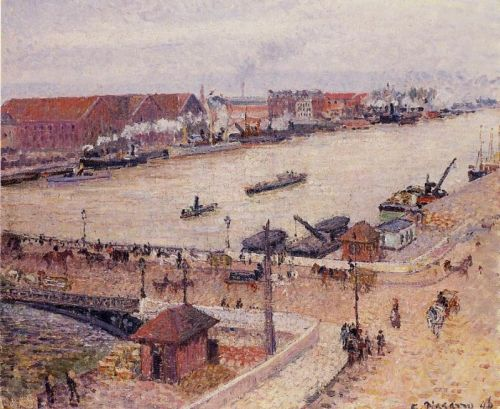 The Seine in Flood, Rouen, 1896 by Camille Pissarro