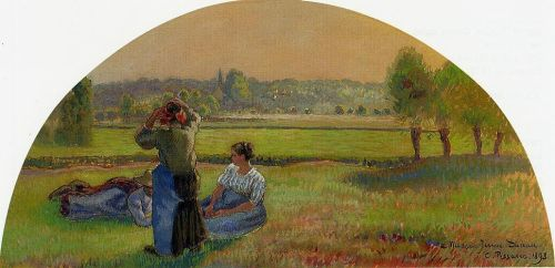 The Siesta in the Fields, 1893 by Camille Pissarro