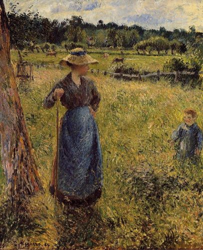 The Tedder, 1884 by Camille Pissarro