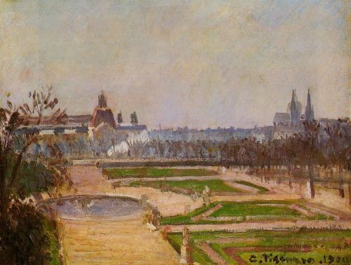 The Tuileries and the Louvre, 1900 by Camille Pissarro