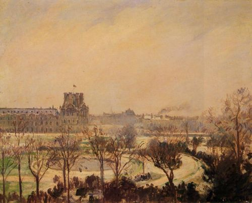 The Tuileries Gardens: Snow Effect, 1900 by Camille Pissarro