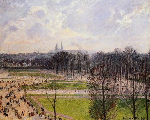 The Tuileries Gardens: Winter Afternoon, 1899 by Camille Pissarro