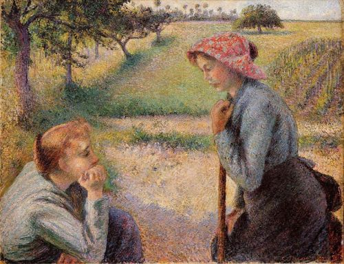 Two young peasant women 1892 by camille pissarro