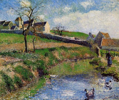 View of a Farm in Osny, 1883 by Camille Pissarro