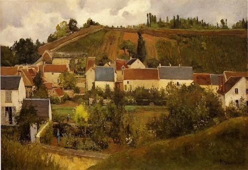 View of l'Hermitage, Jallais Hills, Pontoise, 1867 by Camille Pissarro