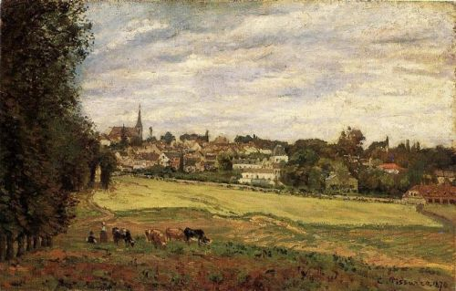 View of Marly-le-Roi, 1870 by Camille Pissarro