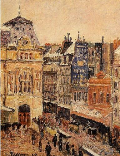 View of Paris, Rue d'Amsterdam, 1897 by Camille Pissarro