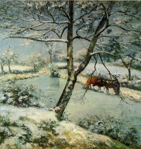 Winter at Montfoucault (The Effect of Snow), 1875 by Camille Pissarro