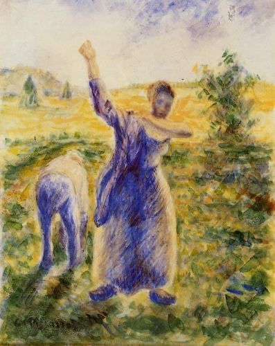 Workers in the Fields, 1896-1897 by Camille Pissarro