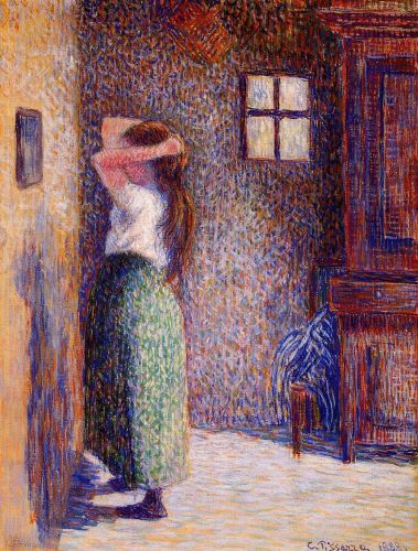 Young Peasant at Her Toilette, 1888 by Camille Pissarro