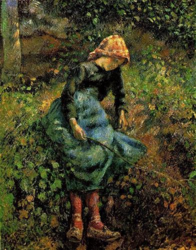 Young Peasant Girl with Stick (The Shepherdess), 1881 by Camille Pissarro