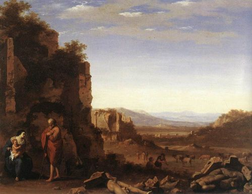 Rest on the Flight into Egypt by Cornelis van Poelenburgh