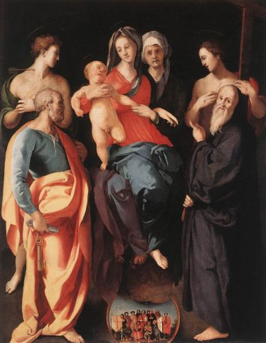 Madonna and Child with St Anne and Other Saints by Jacopo da Pontormo